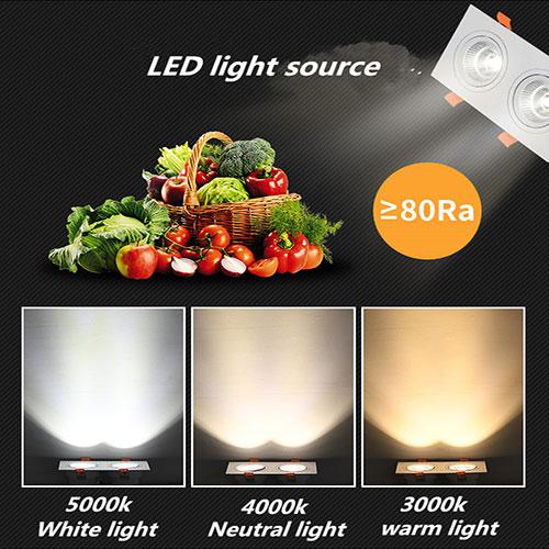 Đèn âm trần đôi downlight LED COB cao cấp 14w vỏ trắng
