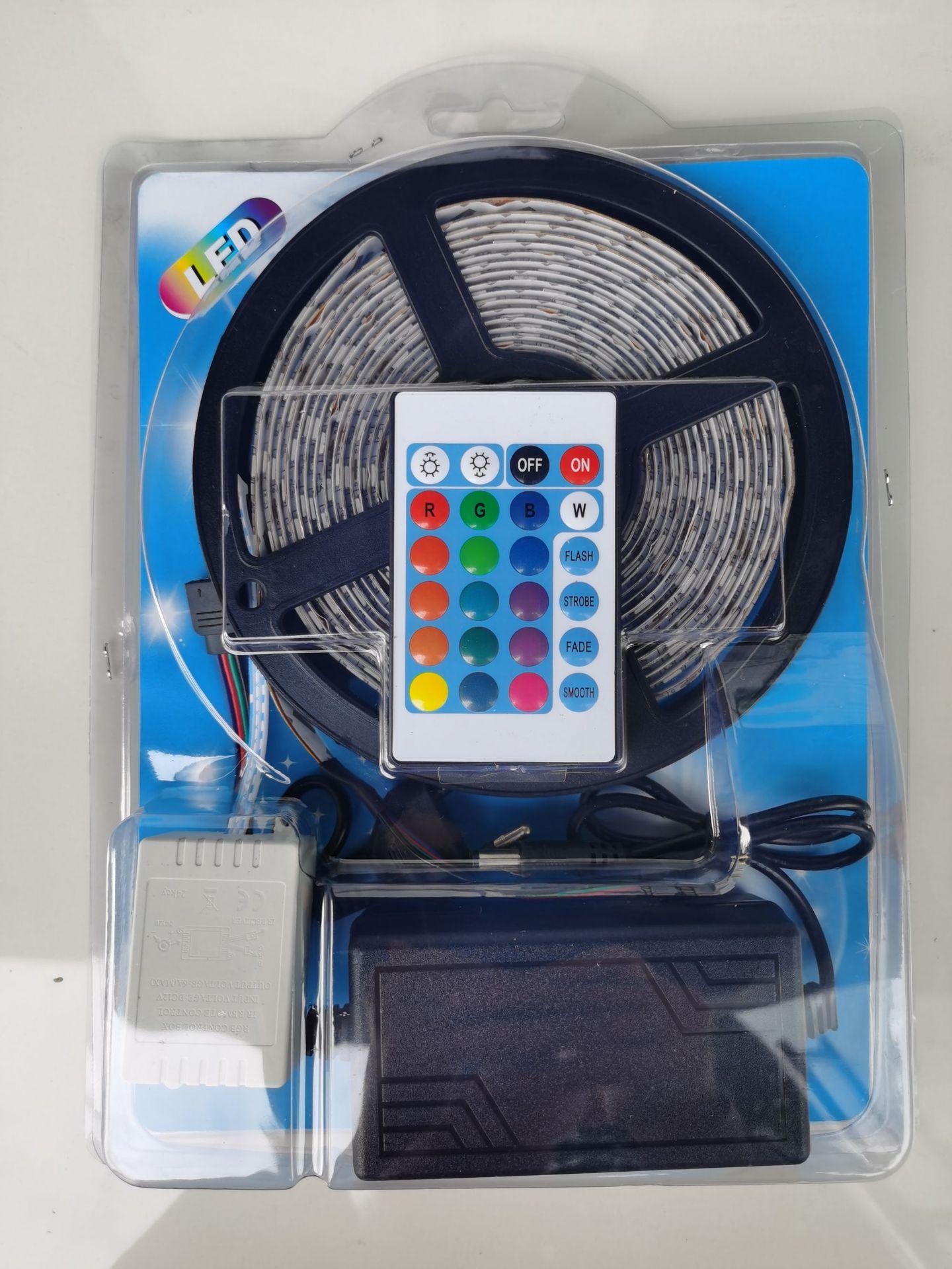 Bộ LED dây dán RGB5050 đổi mầu cuộn 5m & nguồn adaptor 12v 5A & điều khiển TL-RGB-F01 44