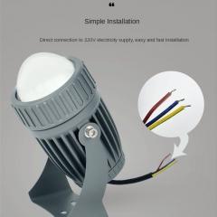 Đèn chân cột 10w LED spotlight hiện đại chiếu rọi ngoài trời IP66 cao cấp TL-RC01