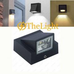 Đèn gắn tường Led 1 đầu hiện đại 5w ngoài trời vỏ đen DGT-8137