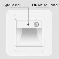Đèn led cảm biến dẫn hướng vuông 2w ốp chân bậc cầu thang trong nhà hiện đại vỏ trắng TL-CT01-PIR