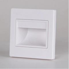 Đèn led dẫn hướng vuông 1,5w ốp chân bậc cầu thang trong nhà hiện đại vỏ trắng TL-CT01