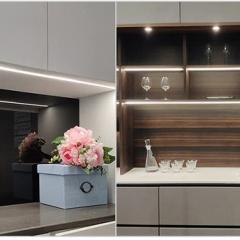 Đèn LED thanh nhôm 12v 50cm cảm biến vẫy tay lắp tủ quần áo, tủ bếp cao cấp TL-TBV-01