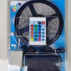 Bộ LED dây dán RGB5050 đổi mầu cuộn 5m & nguồn adaptor 12v 5A & điều khiển TL-RGB-F01