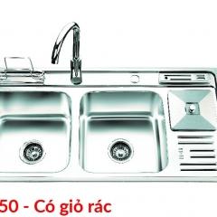Chậu rửa bát Inox SUS 201 S10250 có giỏ rác OLYMPIC
