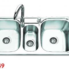 Chậu rửa bát Inox SUS 201 S10249 3 hố OLYMPIC