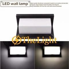 Đèn gắn tường Led hiện đại 12w ngoài trời vỏ đen DGT-601