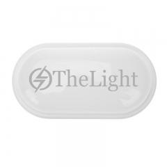 Đèn trần chống ẩm hình bầu dục eclip vỏ trắng 20w D270 TL-OCA-01