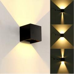 Đèn gắn tường Led vuông đen 2 đầu 5w DHT-01V-5W-B