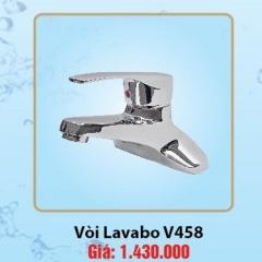 Vòi chậu Lavabo 3 lỗ nóng lạnh Olympic Tay Vuông Model V458
