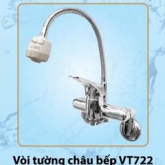 Vòi chậu bếp nóng lạnh cao cấp Olympic gắn tường Model VT768