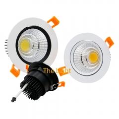 Đèn âm trần 7w downlight Led COB viền trắng vỏ trắng D90 TL-ACOB-7W01