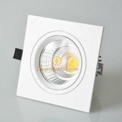 Đèn âm trần vuông đơn 7w downlight Led COB viền trắng vỏ trắng D90 TLV-ACOB-7W02