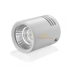 Đèn led gắn trần hộp tròn đơn 7w chip COB vỏ trắng D75 HN-01TR-7W