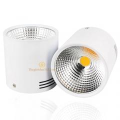 Đèn gắn trần Led hộp tròn 12w chip COB vỏ trắng D100 HN-01TR-12W