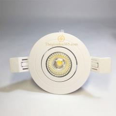 Đèn âm trần cao cấp D76 xoay góc 30 độ downlight Led chip COB vỏ trắng 12w TL-D76TR-12W