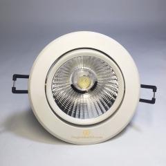 Đèn Led downlight âm trần cao cấp xoay góc 36 độ chip COB 12w lỗ khoét 90mm TLA-D90-COB36